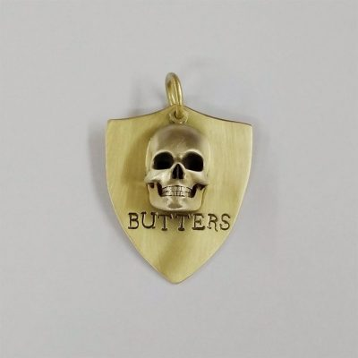 Personalized Skull Dog Tag ID in 3D