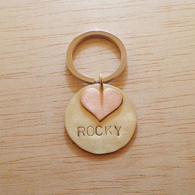 Personalized 3D Heart Dog Collar ID