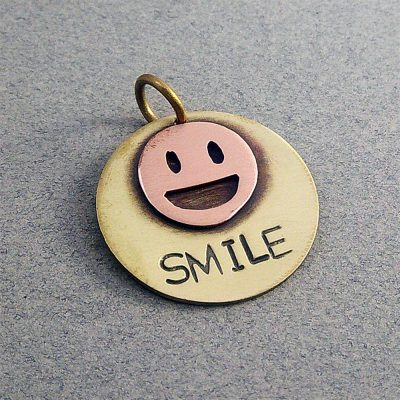 Personalized Smile Dog Collar ID