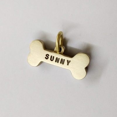 Personalized White Dog Collar ID